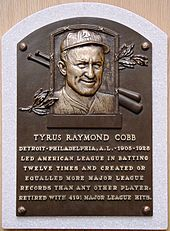 Image result for ty cobb hall of fame