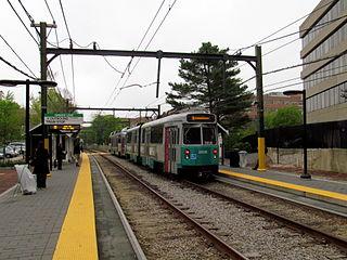 Brookline Village station MBTA subway station