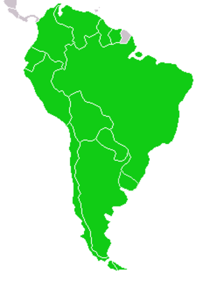 UNASUR Constitutive Treaty - The twelve signatory states of the UNASUR Constitutive Treaty.