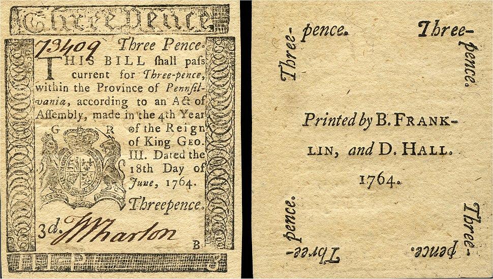 US-Colonial (PA-115)-Pennsylvania-18 Jun 1764