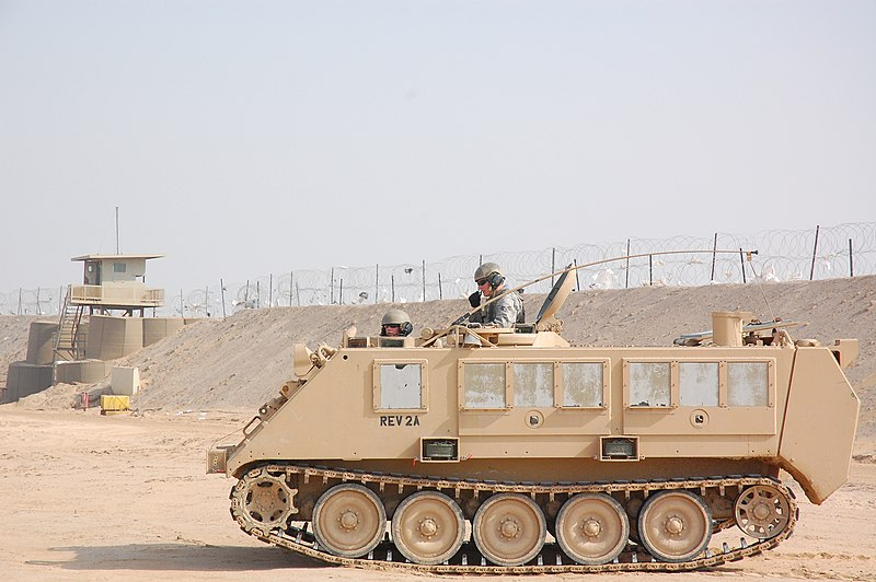 File:USAF M113 APC at Camp Bucca, Iraq.jpg