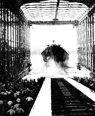 Alaska-class cruiser - Image: USS Alaska (CB 1) launching