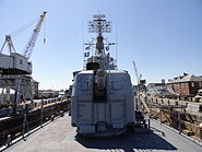 USS Cassin Young bow with Mark 12 5 inch, 38 caliber guns