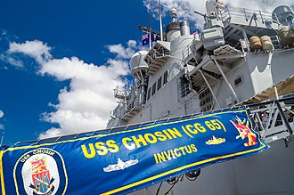 International Fleet Review 2013 - Image: USS Chosin (CG 65) at International Fleet Review 2013 Open Day