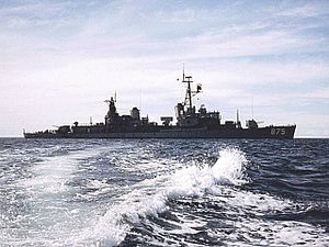 USS Henry W. Tucker - USS Henry W. Tucker at anchor at An Thoi, Vietnam.
