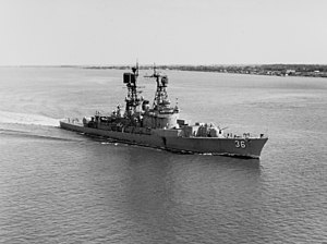 USS John S. McCain (DL-3) - John S. McCain after her conversion to a guided missile destroyer, 1969