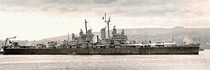 USS Little Rock (CL-92) - Image: USS Little Rock (CL 92) Valparaiso 1946