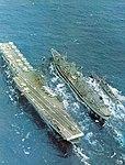 USS Mississinewa (AO-144) refueling USS Essex (CVS-9) 1967.jpg