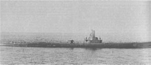 Sea Robin (SS-407) during shakedown training off Portsmouth, N.H., 4 September 1944.