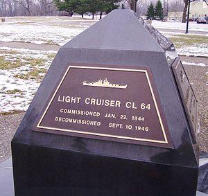 USS Vincennes (CL-64) - Marker in Vincennes, Indiana