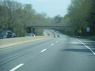 U.S. Route 1 in Pennsylvania - US 1 freeway northbound in Langhorne