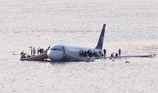 US Airways Flight 1549 2009 aircraft accident in the USA with successful ditching in the Hudson River