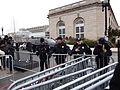 US Capitol Police at gates near US Botanic Gardens; 2013 US Presidential Inauguration.JPG