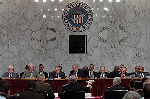 2005 Base Realignment and Closure Commission - The Commission questions Gordon R. England, Vern Clark, and Michael Hagee in 2005.