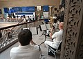 US Navy 050816-N-6727S-011 Members of Navy Band Great Lakes perform World War II tunes outside the Creativity and Crisis exhibit, which showcases architecture and design from the post-WWII era.jpg