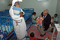 US Navy 070321-F-0524H-130 Chaplain Cmdr. W.M. Sonny Dinkins talks with a nun from the Sisters of Charity Baby Clinic in Antananarivo during a trip to meet with area religious leaders.jpg