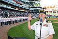US Navy 090603-N-8848T-021 Cmdr. Rhonda K. Harders, commanding officer of Naval Recruiting District Chicago, enlists 86 new Navy recruits at U.S. Cellular Field.jpg