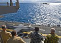 US Navy 090720-N-9950J-106 Senior personnel observe the launch of an AV-8B Harrier aircraft aboard Essex during exercise Talisman Saber 2009.jpg