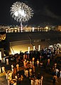 US Navy 100604-N-9950J-330 Senior military and civilian leaders from the U.S. and Japan observe a fireworks display.jpg