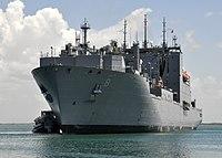 US Navy 100609-N-8241M-061 USNS Wally Schirra (T-AKE 8) pulls into port at Naval Station Guantanamo Bay, Cuba