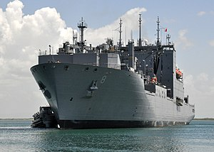 US Navy 100609-N-8241M-061 USNS Wally Schirra (T-AKE 8) pulls into port at Naval Station Guantanamo Bay, Cuba