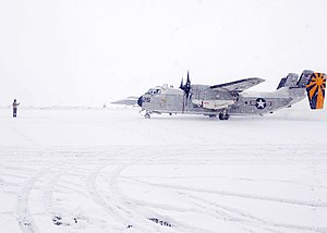 Misawa Air Base - A US Navy C-2 at Misawa