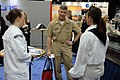 US Navy 110411-N-4930E-071 Master Chief Petty Officer of the Navy (MCPON) Rick D. West speaks with Sailors assigned to USS Constitution at the 2011.jpg
