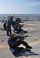 US Navy 110707-N-OM642-782 Sailors aboard the guided-missile frigate USS Carr (FFG 52) shoot the M-4 rifle during a live-fire small arms qualificat.jpg