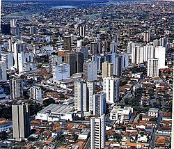 Aerial view of Uberlândia