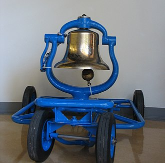 UCLA–USC rivalry - The Victory Bell, which is painted blue to signify that the trophy is under UCLA's possession. If the trophy comes under USC's possession, it is painted red.
