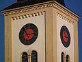 Uhren Kirchturm evangelische Stadtkirche Schriesheim.JPG