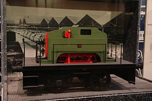 Samuel Geoghegan -  Model of Guinness Brewery Samuel Geohegan's haulage wagon and steam locomotive No 20 exhibited at Ulster Transport Museum, Cultra
