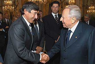 Umberto Scapagnini - Mayor Scapagnini with former President of Italy Carlo Azeglio Ciampi in 2004.