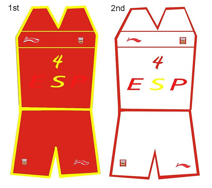 camiseta seleccion española colores