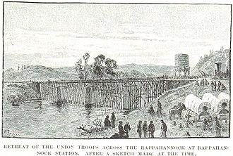 First Battle of Rappahannock Station - Union forces retreat from Rappahannock Station