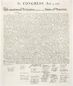 Wikijunior United States Charters Of Freedom Declaration Of