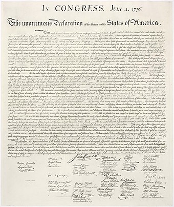The United States Declaration of Independence was used by the Rhodesians as the model for their UDI. United States Declaration of Independence.jpg