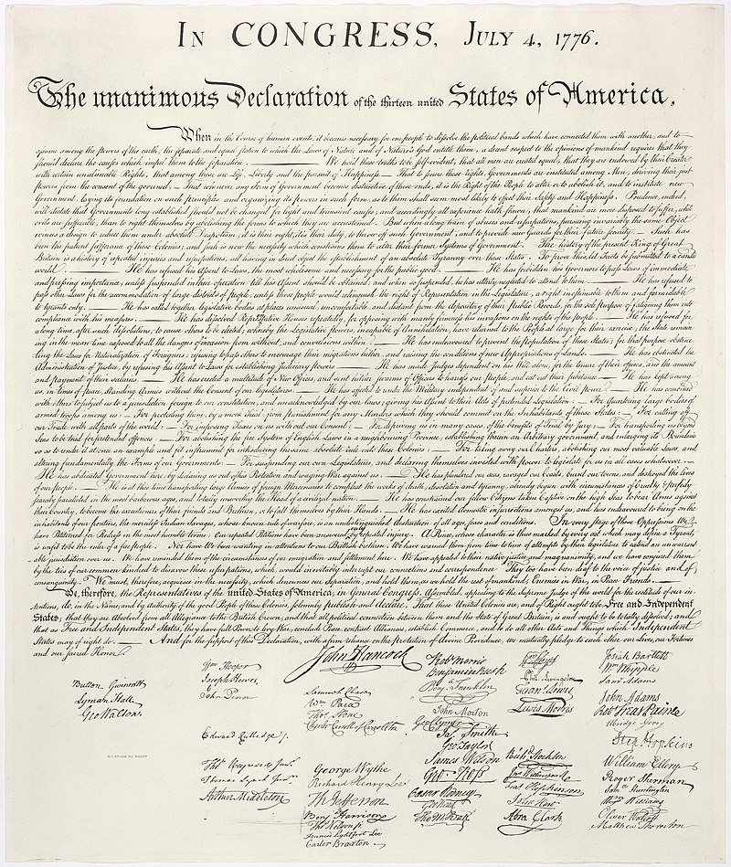 Declaration of Independence, Independence Day, Fourth of July
