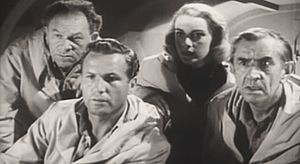 Victor Kilian - From Unknown World (1951), L-R: Otto Waldis, Bruce Kellogg, Marilyn Nash and Victor Kilian