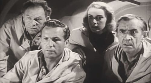 From Unknown World (1951), L-R: Otto Waldis, Bruce Kellogg, Marilyn Nash and Victor Kilian Unknown World (1951) 1.jpg