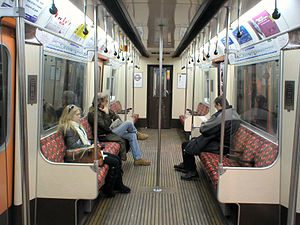 London Underground D78 Stock - Interior before refurbishment