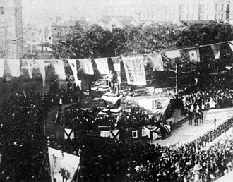Thomas Sutcliffe Mort - The unveiling of Mort's statue in Macquarie Place in 1883.