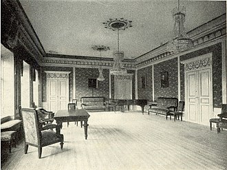 Uplands nation - Uplands nation, the banquet and meeting hall (nationssalen). Photo from before 1915.
