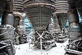 Upwards View of Saturn V Engines at Kennedy Space Center.jpg