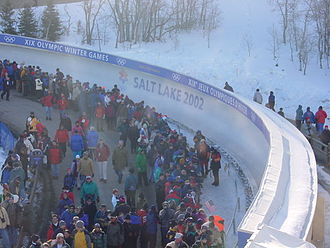Luge at the 2002 Winter Olympics - Luge at the Utah Olympic Park on February 15, 2002.