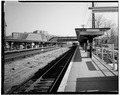 VIEW NORTH FROM OUTBOUND PLATFORM - Hartsdale Railroad Station, East Hartsdale Avenue, Hartsdale, Westchester County, NY HABS NY,60-HART,1-16.tif