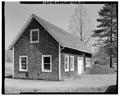 VIEW SOUTHEAST. - Parsons Nursery, Workshop-Warehouse, South side of U.S. Route 219, Parsons, Tucker County, WV HABS WVA,47-PARS.V,1C-1.tif