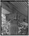 VIEW TO SOUTHWEST. PORCH COLUMN CAPITAL. - Lila Farm, House, E808 State Highway 54, Plover, Portage County, WI HABS WIS,49-PLOV.V,1A-8.tif