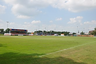 VV Montfoort - Montfoort's grounds with its nickname, Orange Machine, written on a sign