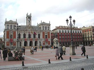 Plaza Mayor, Valladolid - Plaza Mayor featuring the Town Hall, the seat of the City Council of Valladolid.